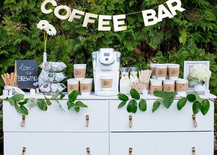 A Coffee Bar At Your Wedding Reception Kelly Della Bosca Marriage